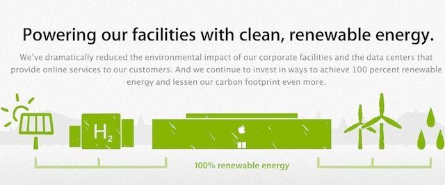 Centra danych Apple'a w 100% zasilane z energii odnawialnej