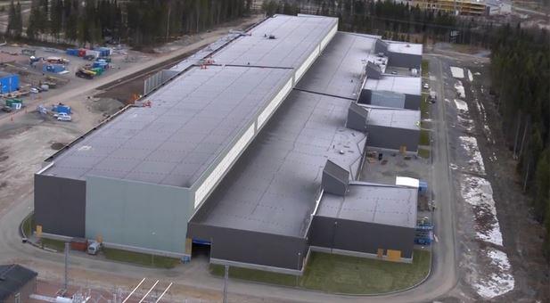 Widok z góry na centrum danych zlokalizowanego w Lulei