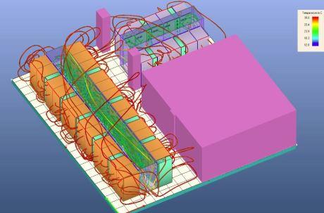 Modelowanie chłodzenia serwerowni