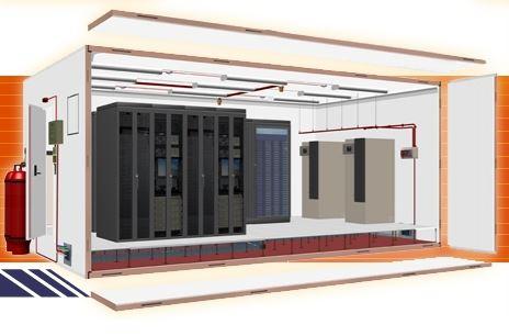 Bezpieczne pomieszczenie serwerowni – IT security room