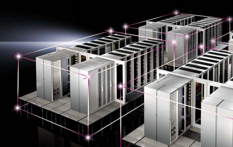 RiMatrix S - opcja double (podwójny zestaw szaf serwerowych i systemów wspomagających (zasilanie, chłodzenie itp.)