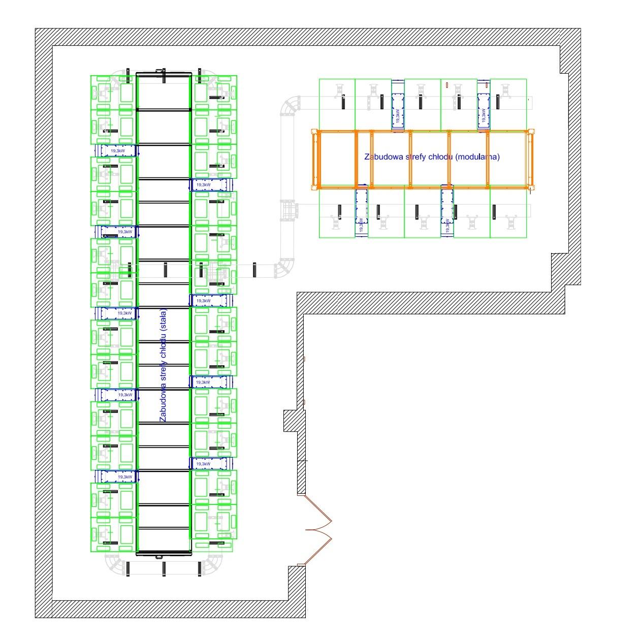 Przykład centrum danych o znaczeniu krytycznym i mocy 180 kW